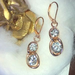 Beautiful CZ drop earrings